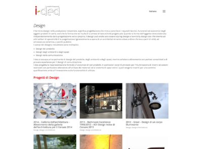 Sito Web I-Dea | Restyling Identità Visiva